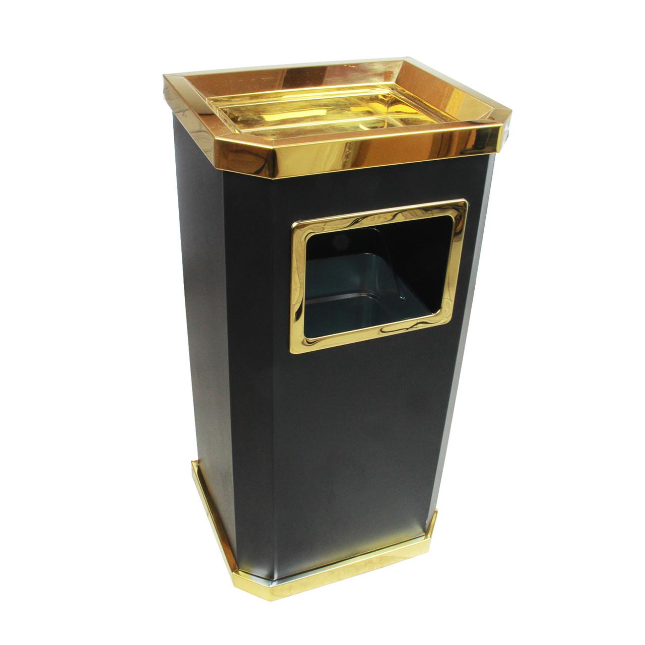 Урна пепельница GL025 (черная-золото)