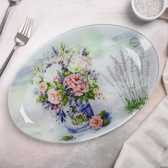 Блюдо «Весенний роман», 29,5×20,3×2,1 см - фото 1