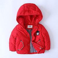 """Куртка демисезонная""""Mother`s babybear"""" для мальчиков от 3до 7 лет, красная."""