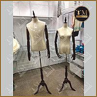 Швейный Женский манекен, с деревянными руками и ножкой