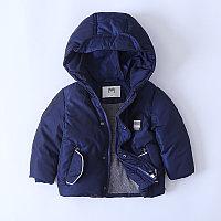 """Куртка демисезонная """"Mother`s babybear"""" для мальчиков от 3 до 7 лет, синяя."""