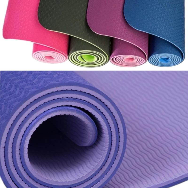 Коврик для йоги двухсторонний 6 мм с чехлом
