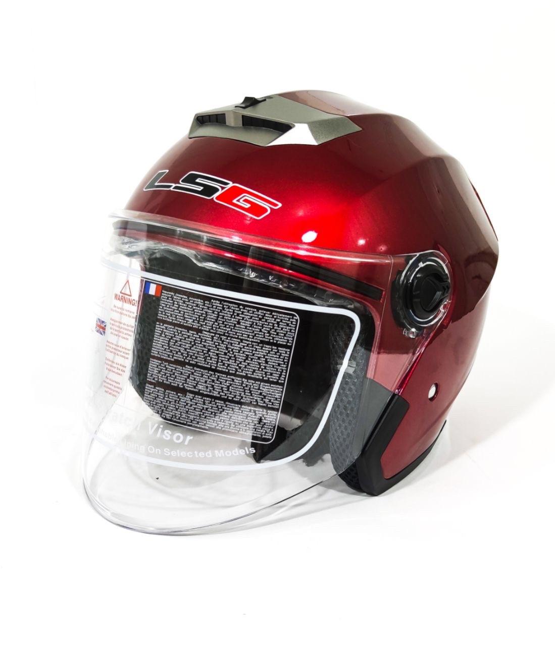 Мотошлем l5g красный