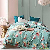 Комплект постельного белья двуспальный VIP COTTON с принтом спелых гранатов