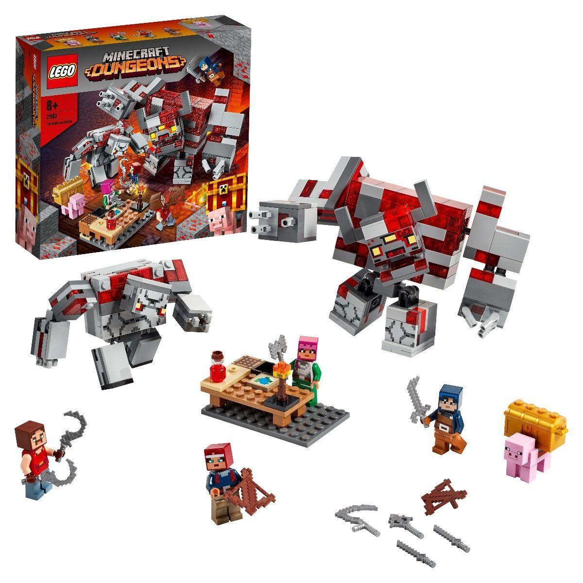 Конструктор Lego Minecraft Битва за красную пыль, Лего Майнкрафт
