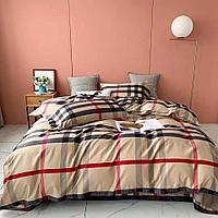 Комплект постельного белья двуспальный VIP COTTON с принтом Burberry