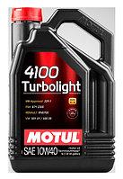 Масло моторное синтетическое MOTUL 10W40 4100 TURBOLIGHT 4L