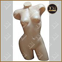 Манекен торс фигурный женский телесно бежевый цвет