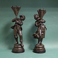 Парные фигуры «Дети с зонтиками» Автор Auguste Moreau (1834-1917)