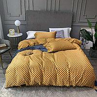 Комплект постельного белья двуспальный VIP COTTON с принтом Gucci