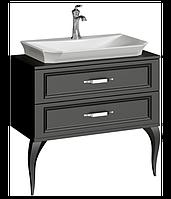 Aqwella LaDonna 85 см, цвет черный тумба с раковиной
