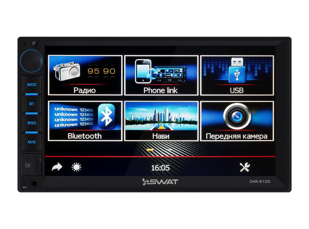 Универсальное головное устройство 2DIN Swat CHR-6100