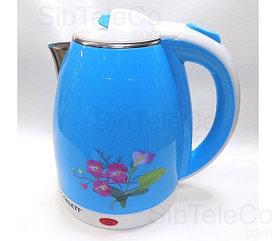 Чайник электрический SCARLETT SC-10 / 2.0 л./ 2200W/ Пластик+Сталь/ Дисковый