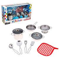 """Набор металлической посуды, """"Кулинарное искусство"""", 9 предметов"""