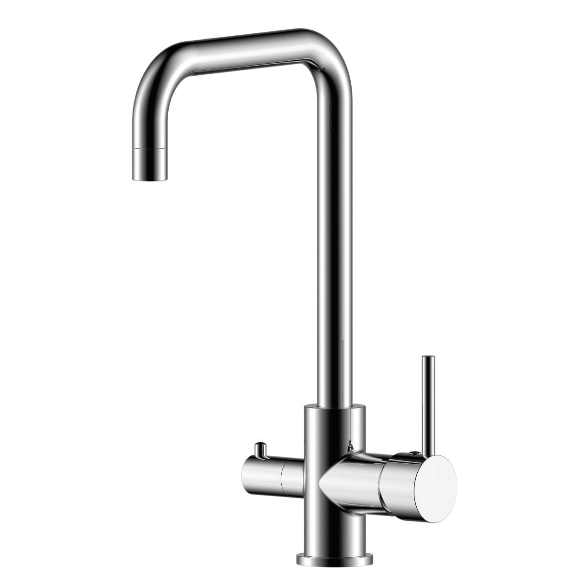 Смеситель Rossinka Silvermix Z35-29 для кухни 2 в 1: кухня+кран для чистой воды