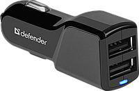 Автомобильный адаптер Defender UCA-34 (2xUSB, 5V/3.4А)
