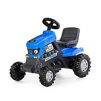 Толокар-трактор Turbo с педалями, цвет синий