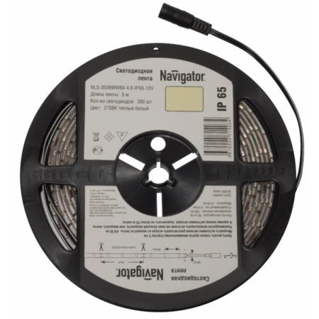Лента СД NLS-3528Y60-4.8-IP65-12V R5 71 407 Navigator