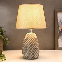 Лампа настольная 16026/1 E14 40Вт коричнево-серый 20х20х33,5 см