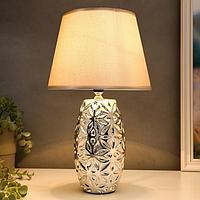 Лампа настольная 16147/1SL E14 40Вт серебро 22х22х38 см