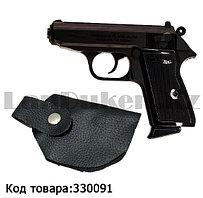 """Зажигалка пистолет """"Lighter 508"""" Вальтер Walther в кобуре черный"""