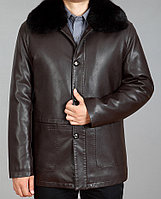 Куртка для зрелых мужчин с меховым воротником XL