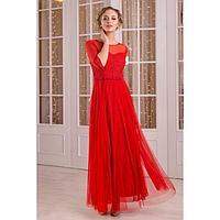 """Платье женское MINAKU """"Dolce"""", длинное, размер 42, цвет бордовый"""