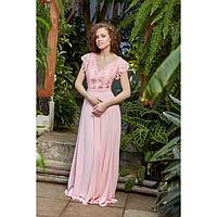 """Платье женское MINAKU """"Amore"""", длинное, размер 44, цвет розовый"""