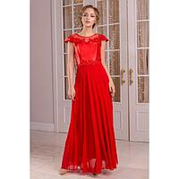 """Платье женское MINAKU """"Felice"""", длинное, размер 42, цвет красный"""