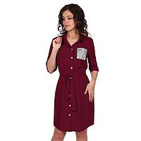 Платье женское «Гэбби», цвет бордовый, размер 44