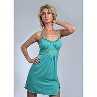 Сорочка женская «АССОЛЬ», цвет тёмно-ментоловый, размер 52