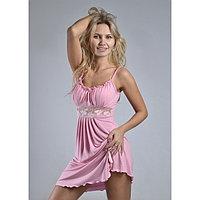 Сорочка женская «Ассоль», цвет светло-розовый микс, размер 46