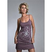 Сорочка женская «ПИОНЫ», цвет тёмно-лиловый, размер 44