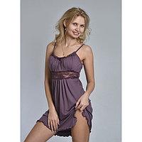 Сорочка женская «АССОЛЬ», цвет тёмно-лиловый, размер 46