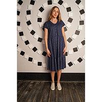 Платье женское «Шанталь», цвет синий, размер 52