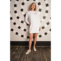 Платье женское Play, цвет белый, размер 56