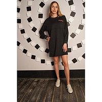 Платье женское Play, цвет антрацит, размер 54