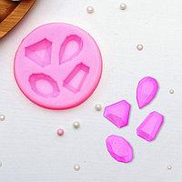"""Молд 7,3х1 см """"Драгоценные камни"""", розовый"""