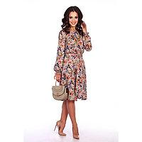 Платье женское «Эйдин», цвет серый/цветы, размер 48