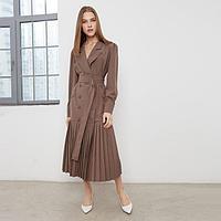 Платье женское MINAKU: Classic цвет шоколадный, размер 52