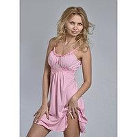 Сорочка женская «АССОЛЬ», цвет светло-розовый, размер 52