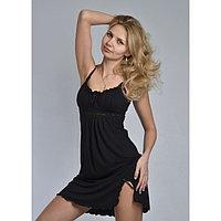 Сорочка женская «АССОЛЬ», цвет чёрный, размер 52