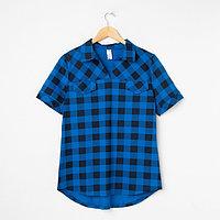 Рубашка женская «Катрин» цвет синий, размер 56