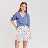 Блуза женская с V-вырезом MINAKU: Enjoy цвет синий, р-р 54