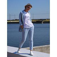 Брюки женские, цвет небесно-голубой, размер 44
