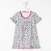 Сорочка для девочки, цвет малиновый, рост 110 см (5 лет)