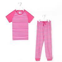 Пижама для девочки, цвет красный, рост 104-110 см