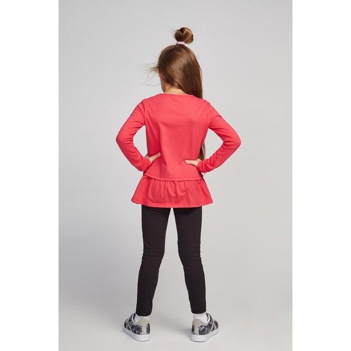 Лосины для девочки, цвет чёрный, рост 158 см (80) - фото 3