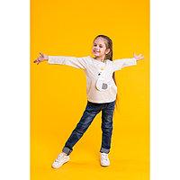"""Джемпер для девочки MINAKU """"Лебедь"""", рост 116-122 см, цвет серый"""