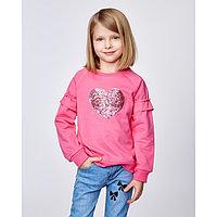 """Толстовка для девочки MINAKU """"Сердечко"""", рост 92-98 см, цвет розовый"""